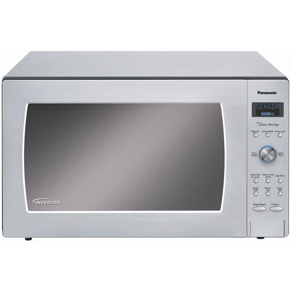 Panasonic Prestige Countertop/Built-In 2.2 cu. ft. 1250 Watt Microwave Oven in Stainless Steel