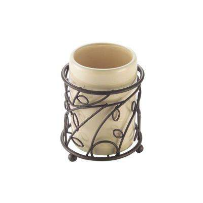 Twigz Tumbler in Vanilla and Bronze