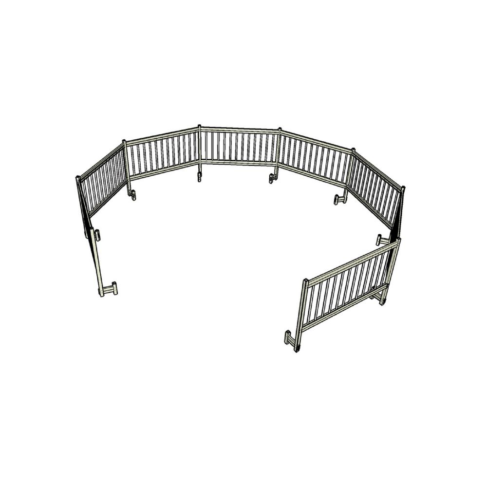 Above Ground Pool Safety Fence Add On Kit C 2 Fence Section Fencing