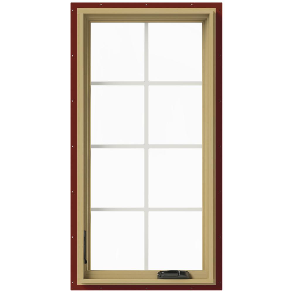 24 in. x 48 in. W-2500 Left-Hand Casement Aluminum Clad Wood Window