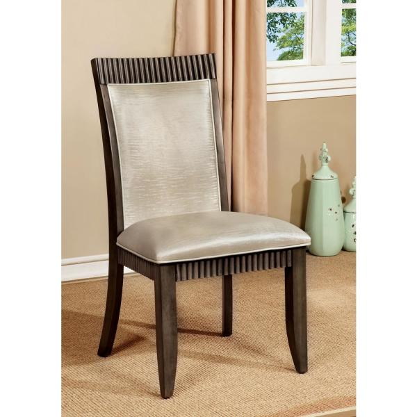FORBES I Gray and White Contemporary Style Side Chair CM3435SC-2PK