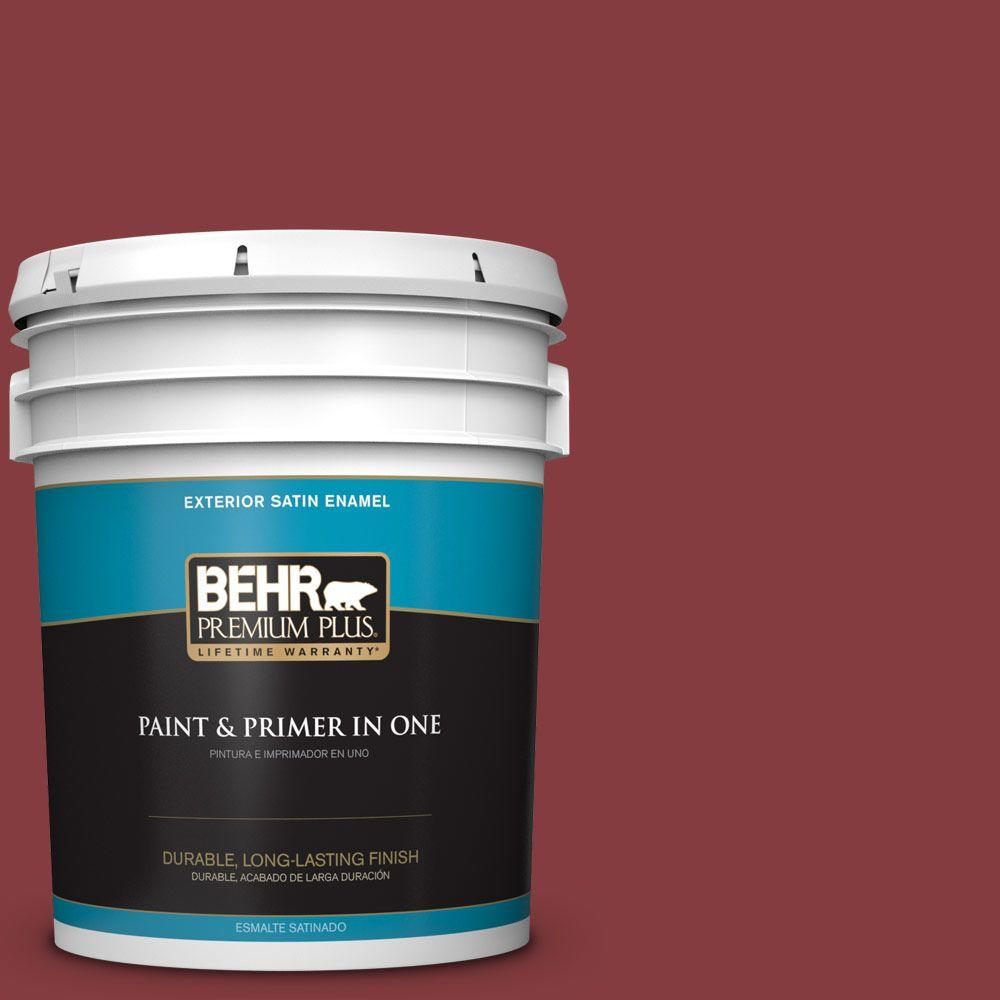 5-gal. #M140-7 Dark Crimson Satin Enamel Exterior Paint