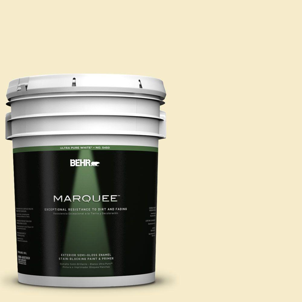 BEHR MARQUEE 5-gal. #390E-2 Starbright Semi-Gloss Enamel Exterior Paint
