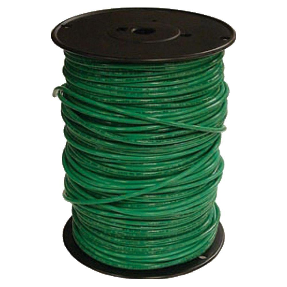 Southwire 500 ft 10 Green Solid CU THHN Wire 11599801