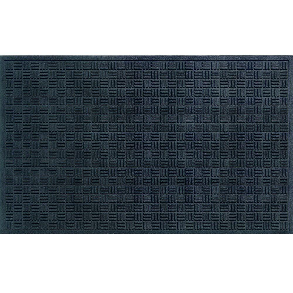 Trafficmaster Black 36 In X 60 In Recycled Rubber
