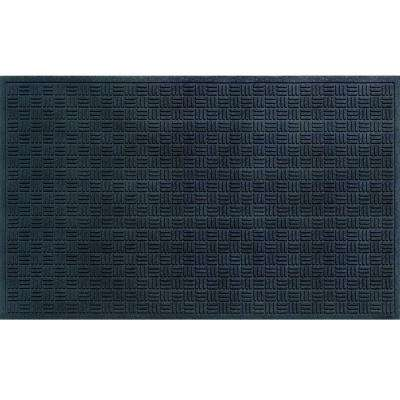 Black 36 in. x 60 in. Recycled Rubber Commercial Door Mat
