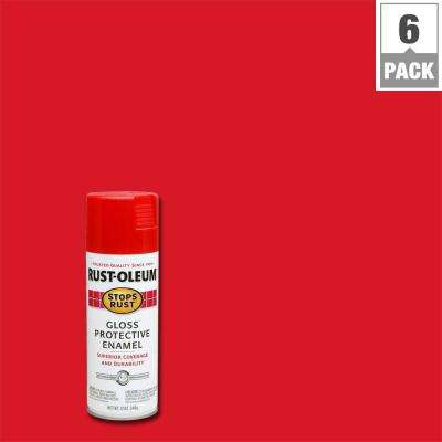12 oz. Protective Enamel Gloss Cherry Spray Paint (6-Pack)