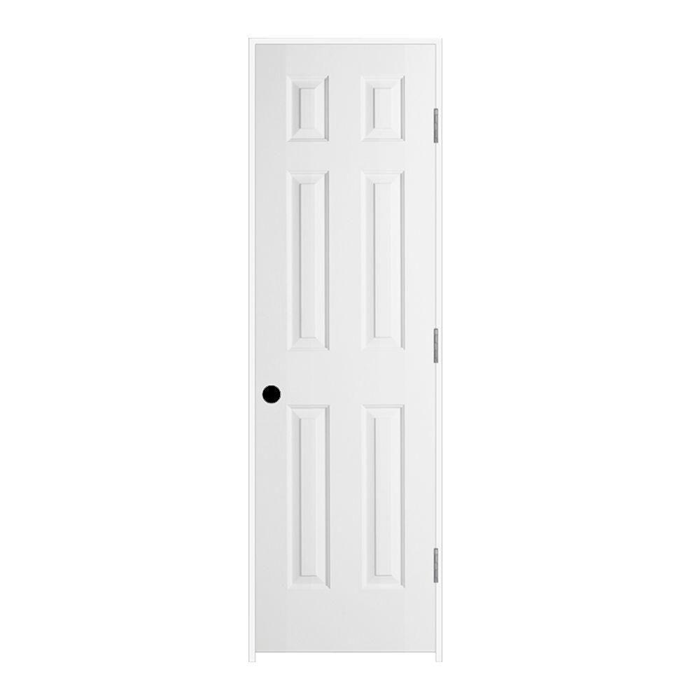 Jeld wen 24 in x 80 in colonist primed left hand smooth for Solid core mdf interior doors