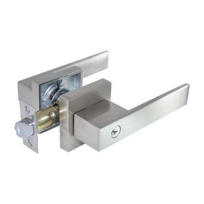 Senna Premium Satin Nickel Keyed Entry Door Lever