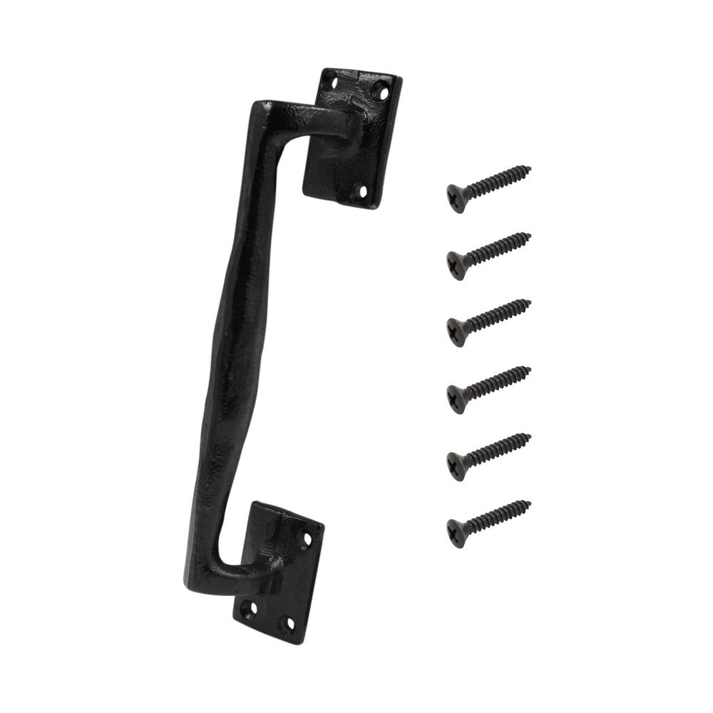 Everbilt Black Heavy Duty Rod Iron Gate Pull
