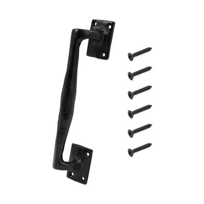 Black Heavy-Duty Rod Iron Gate Pull