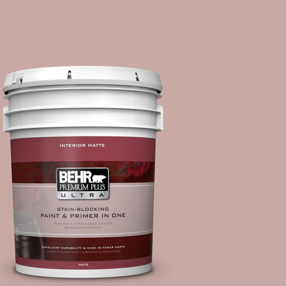 BEHR Premium Plus Ultra 5 gal. #700A-3 Pottery Clay Flat/Matte Interior Paint