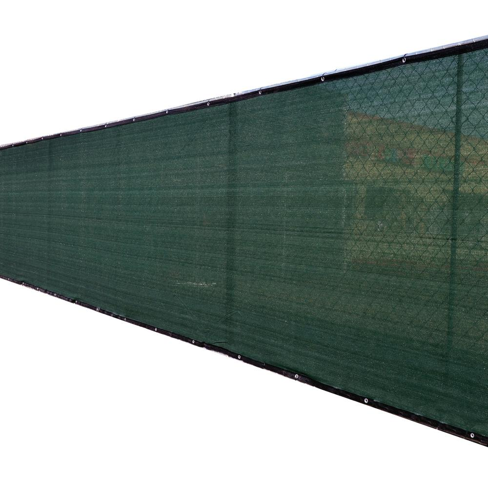 FENCE4EVER 68 in. x 25 ft. Green Privacy Fence Screen Plastic Netting Mesh Fabric Cover with Reinforced Grommets for Garden Fence