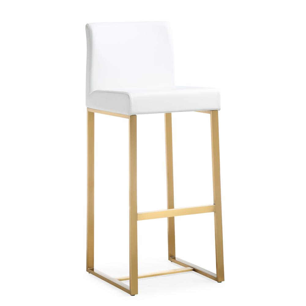 Tov Furniture Denmark 41 3 In White And Gold Steel
