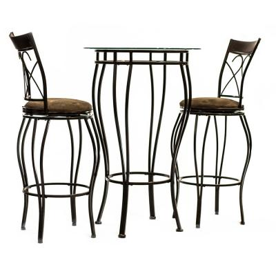 Home Source Northridge Metal Pub Table with 2-Chairs