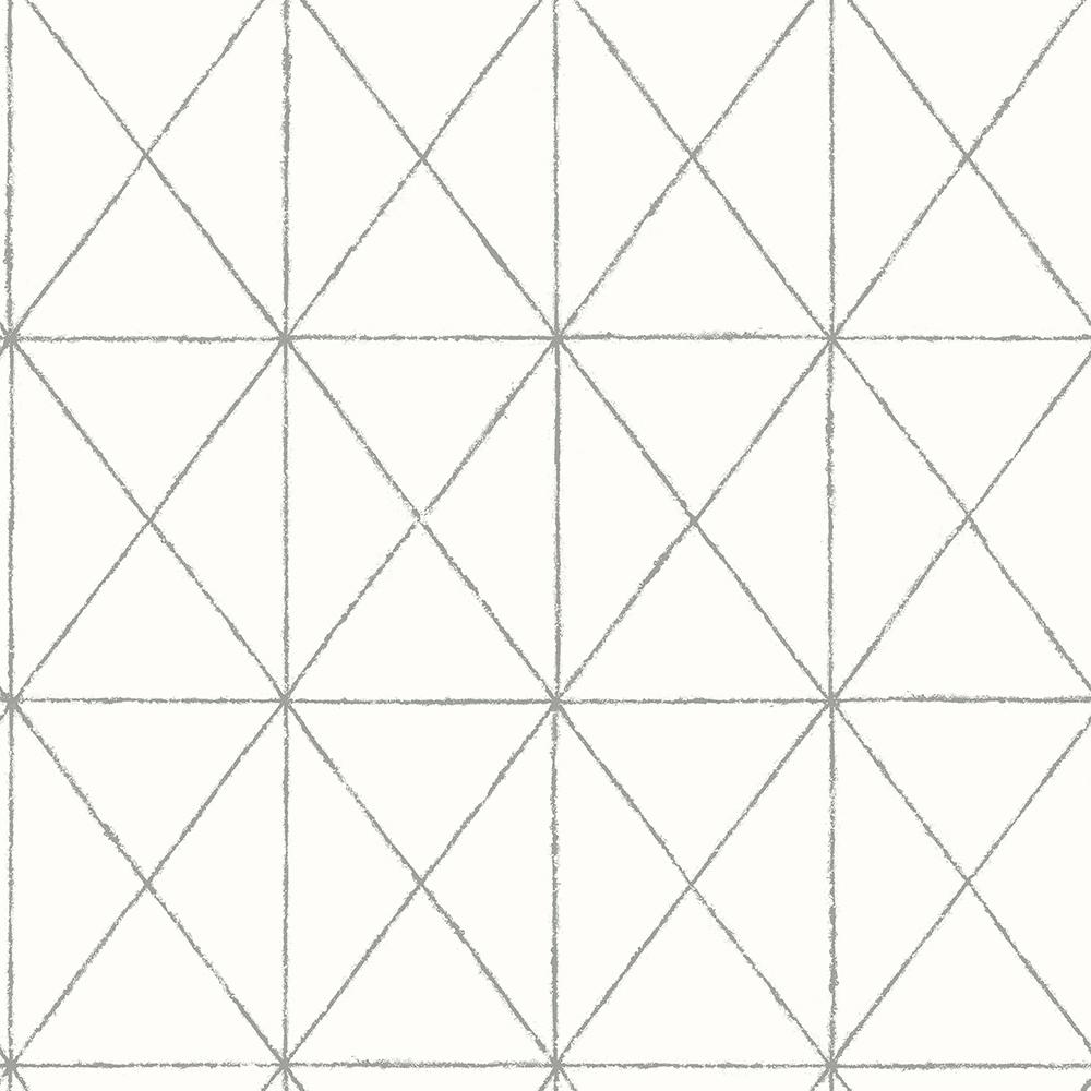 A Street Intersection White Geometric Wallpaper Sample