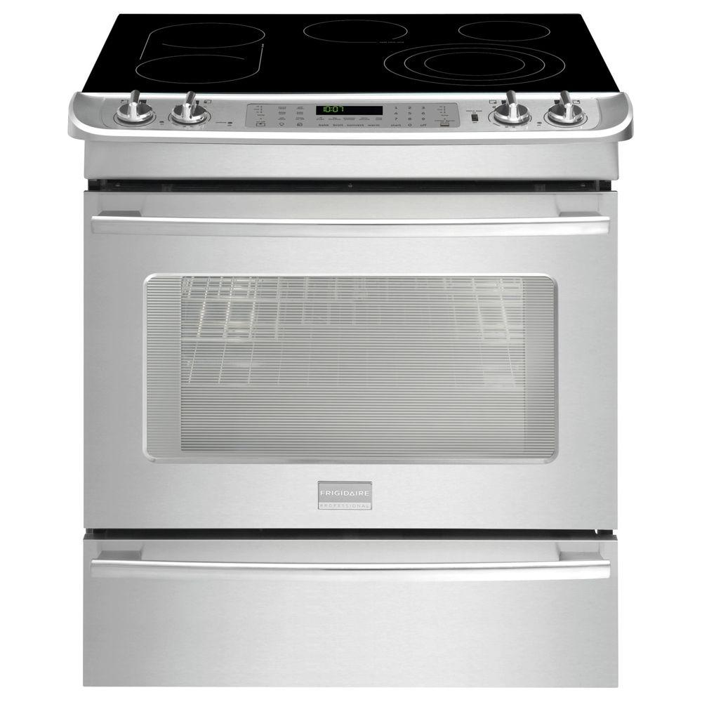 Frigidaire Professional 4.6 cu. ft. Slide-In Electric Range with Self-Cleaning in Stainless Steel