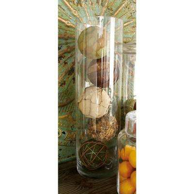 20 in. Smooth Clear Glass Decorative Vase