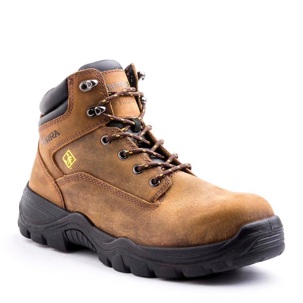 e6fd6a17fa5 Terra Grafton Men's Size 11 Brown Leather Composite Toe Work Boot