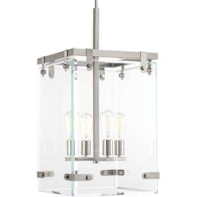 Glayse Collection 4-Light Brushed Nickel Pendant