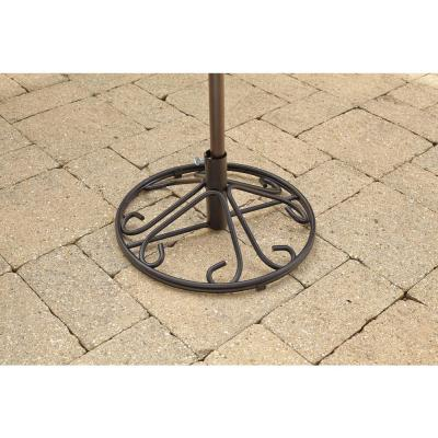 Nantucket Outdoor Patio Umbrella Base in Black