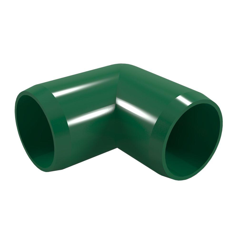1/2 in. Furniture Grade PVC 90-Degree Elbow in Green (10-Pack)