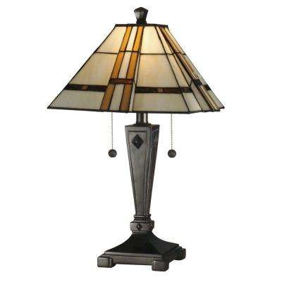 Atherton 21.75 in. Mica Bronze Art Glass Table Lamp