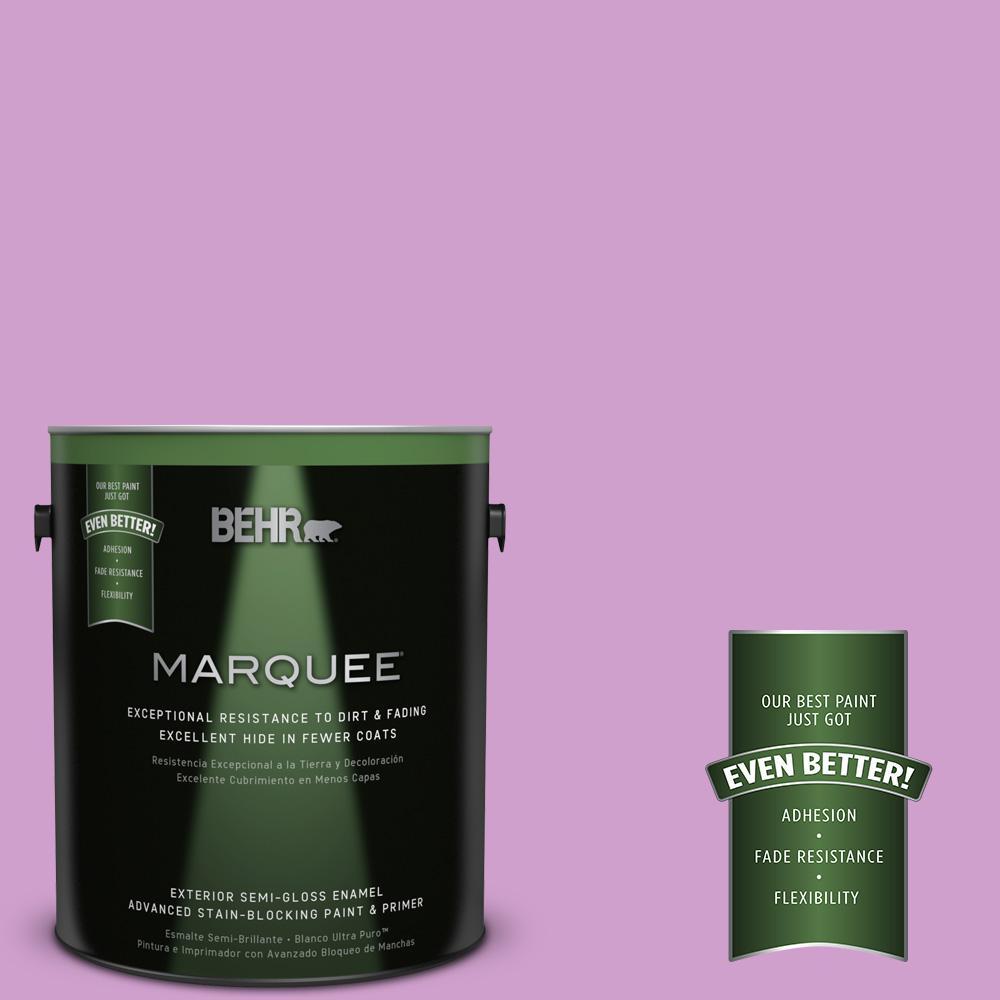 1-gal. #670B-4 Geranium Bud Semi-Gloss Enamel Exterior Paint