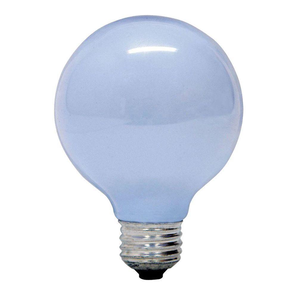 GE Reveal 40-Watt Incandescent G25 Globe Reveal Light Bulb ...