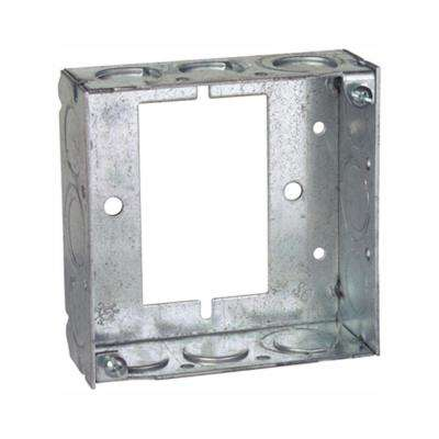 1-Gang 4 in. 21 cu. in. New Work Pre-Galvanized Metal Square Electrical Box Extension Ring (Case of 25)