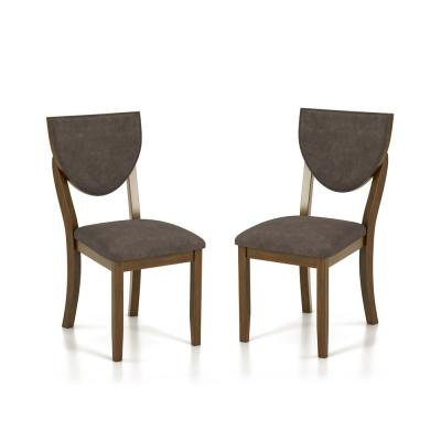 Raven Walnut and Dark Chocolate Side Chairs (Set of 2)