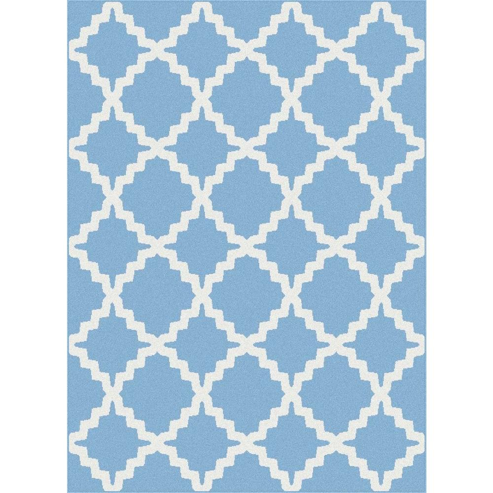 Tayse Rugs Metro Blue 2 ft. 7 in. x 7 ft. 3 in. Contemporary Area Rug