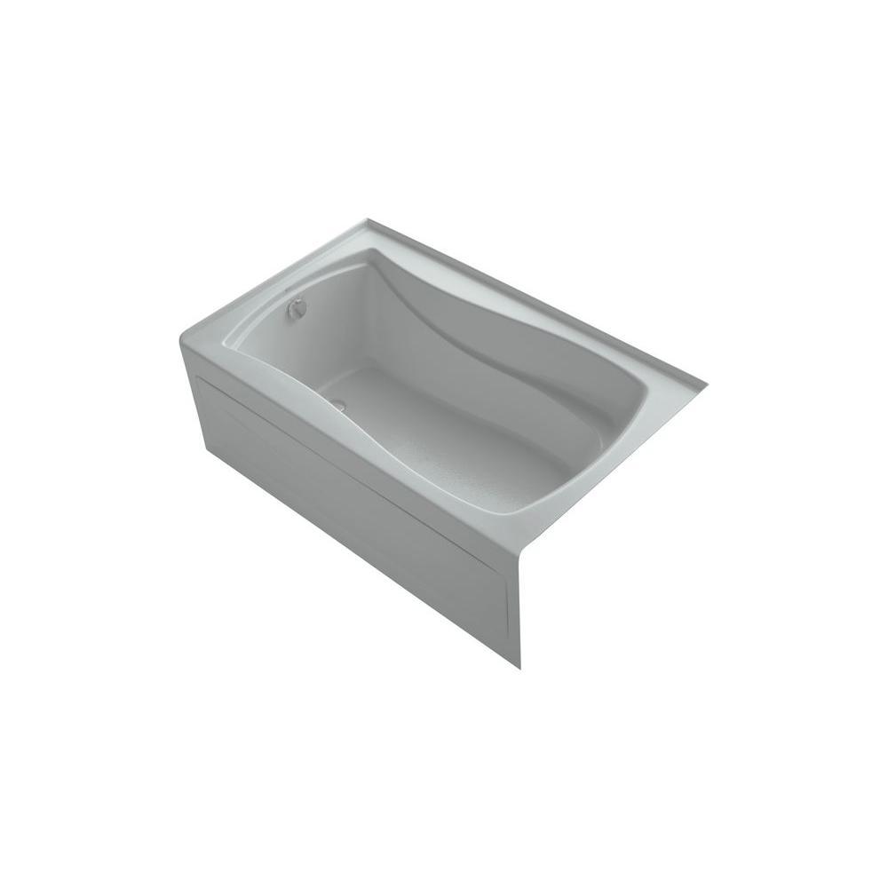 KOHLER Mariposa 5 ft. Bathtub in Ice Grey