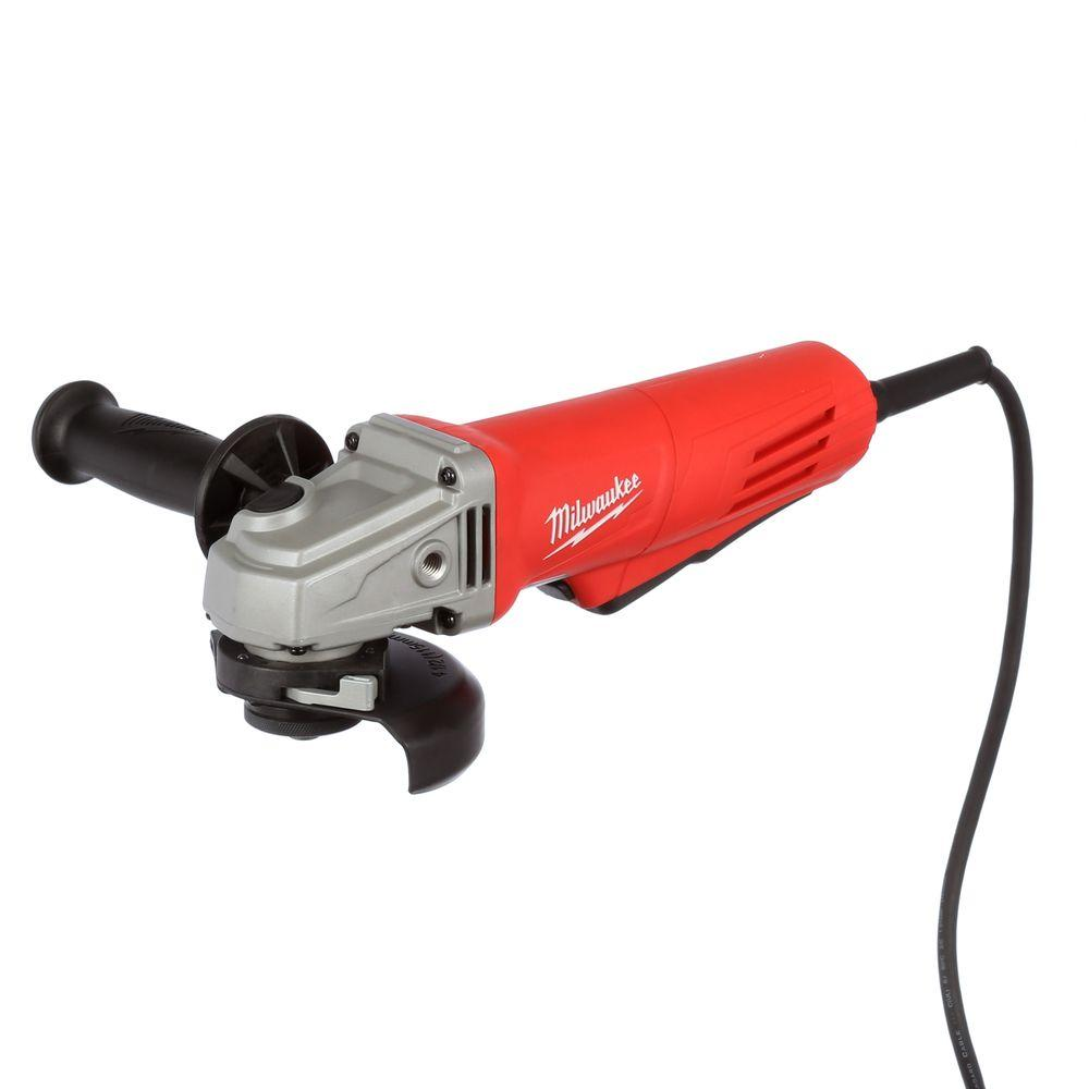 Milwaukee 11 Amp 4.5 In. Small Angle Grinder With Paddle