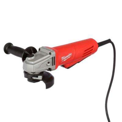 11 Amp 4.5 in. Small Angle Grinder with Paddle Lock-On Switch