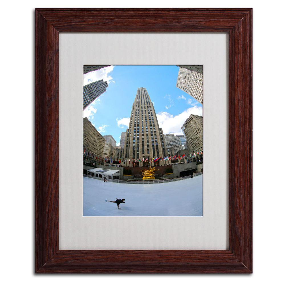 11 in. x 14 in. Rockefeller Center Matted Framed Art