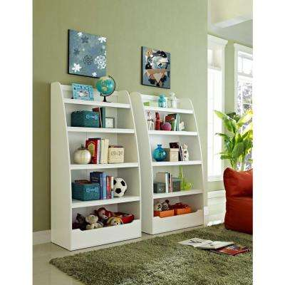 Mia Kids 4-Shelf Bookcase in White