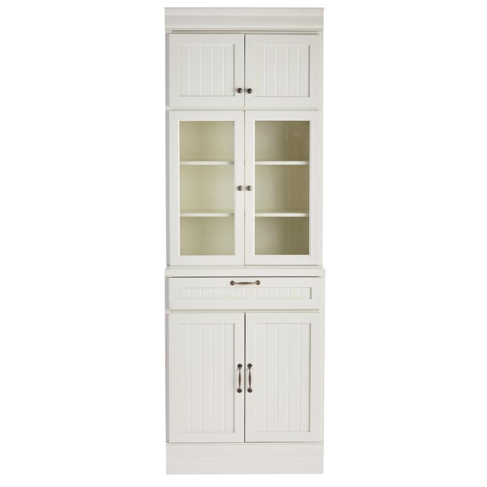 Martingale True White 1-Drawer Modular Storage Cabinet