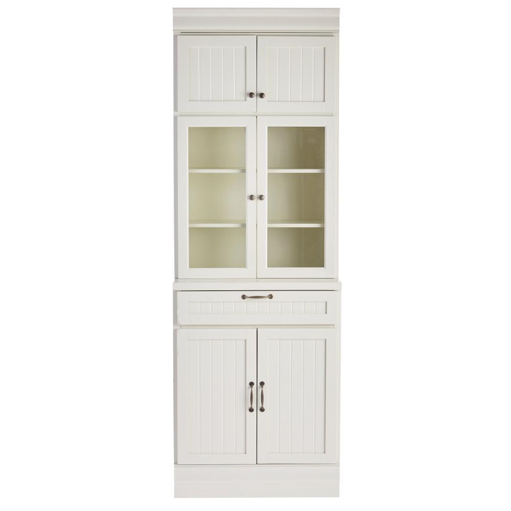 Martingale True White 1-Drawer Modular Storage Cabinet