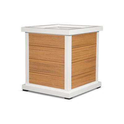 Cube 24 in. 4-Board Plastic Planter