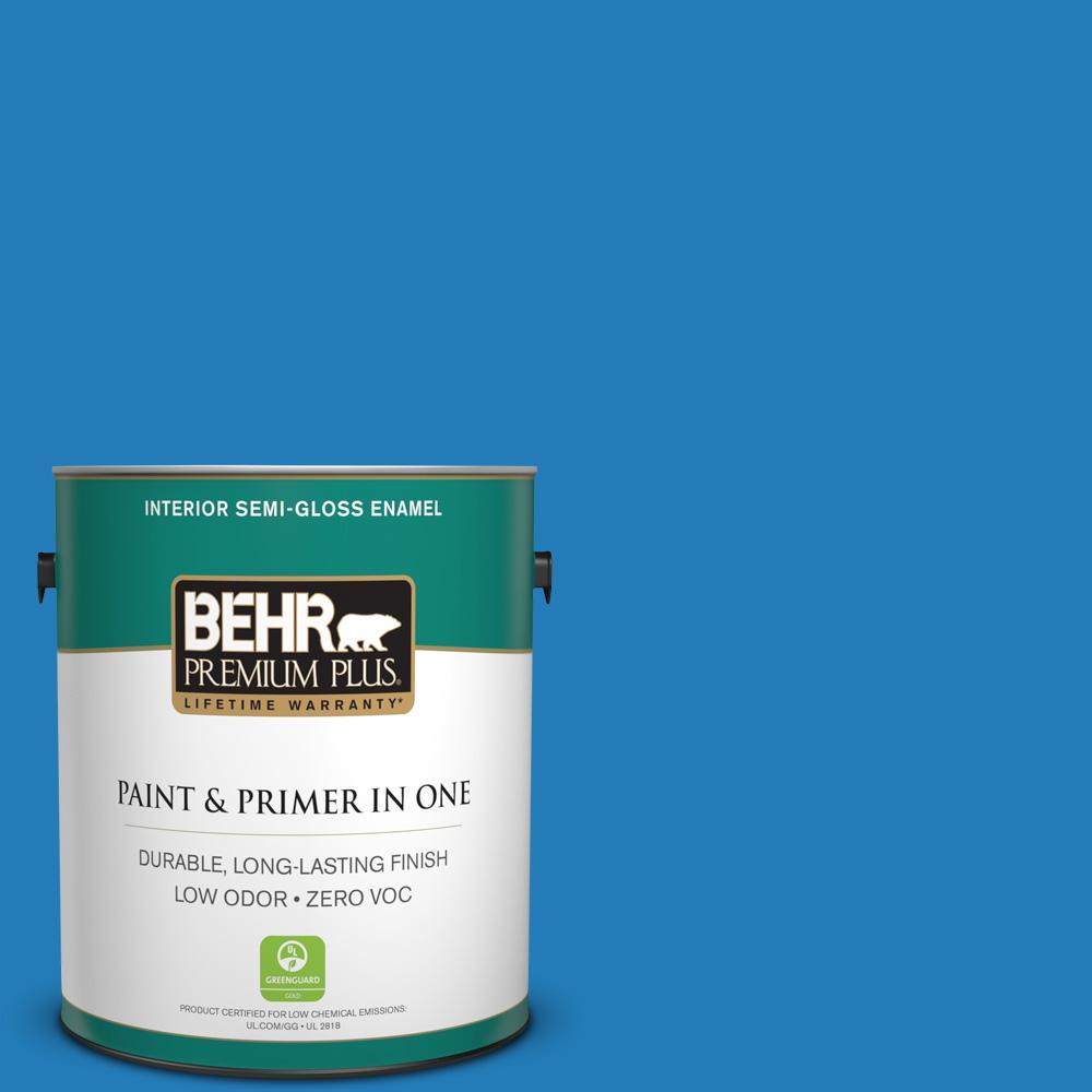 BEHR Premium Plus 1 gal. #S-G-550 Artesian Water Semi-Gloss Enamel ...