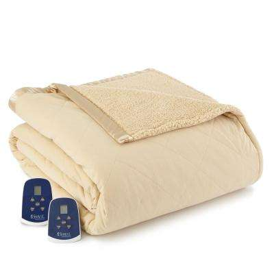 Reverse to Sherpa King Chino Electric Heated Blanket
