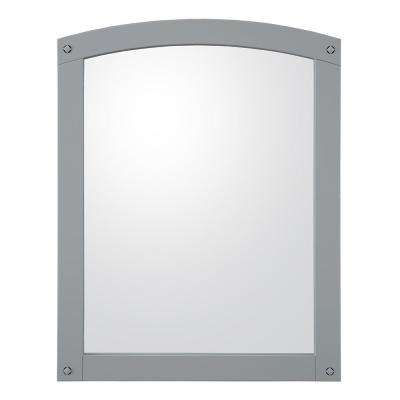 Avondale 24 in. x 30 in. Framed Wall Mirror in Grey