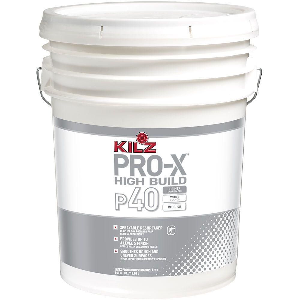 KILZ PROX 5 gal White Flat Interior High Build Sprayable Primer