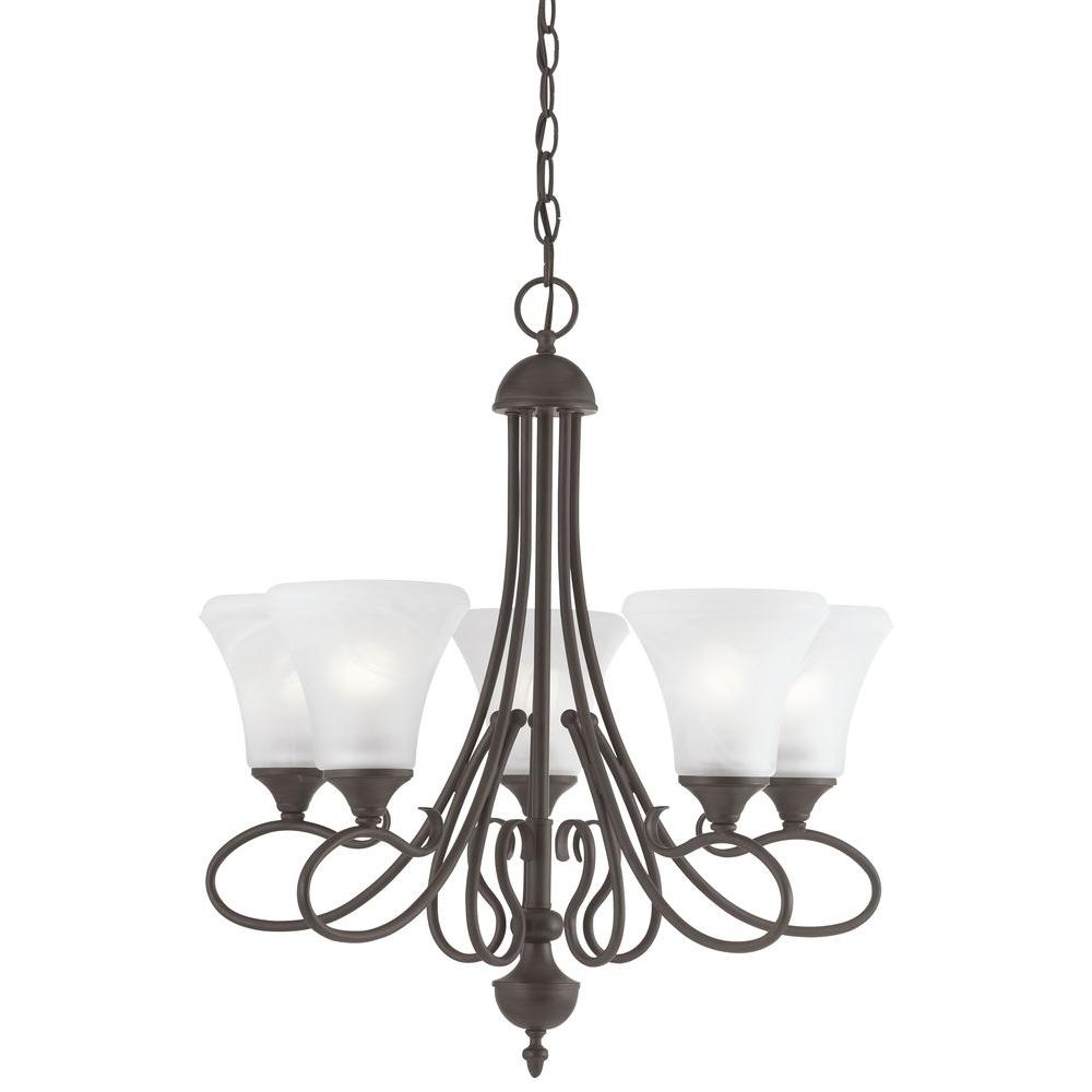 Elipse 5-Light Painted Bronze Chandelier