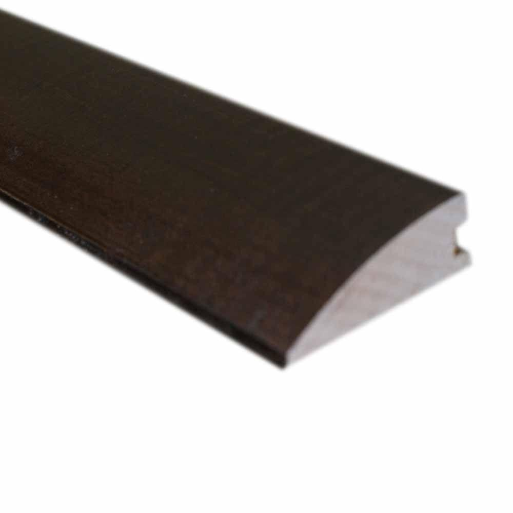 null Handscraped Hickory Cocoa 1/2 in. Thick x 1-3/4 in. Wide x 78 in. Length Hardwood Flush-Mount Reducer Molding
