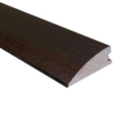 Handscraped Hickory Cocoa 1/2 in. Thick x 1-3/4 in. Wide x 78 in. Length Hardwood Flush-Mount Reducer Molding