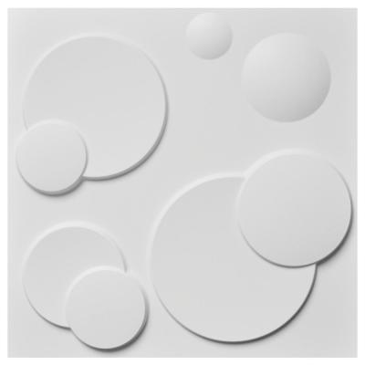 19.7 in. x 19.7 in. x  0.1 in. Matt White PVC Decorative 3D Wall Panels for Wall Decoration(12-Pieces)