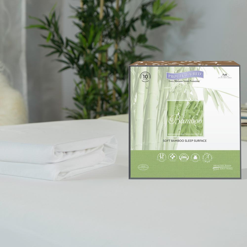 Bamboo Cotton Blend Twin Mattress Protector