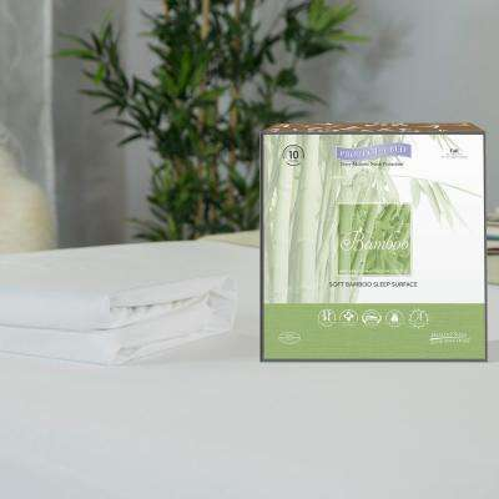 Bamboo Cotton Blend Queen Mattress Protector